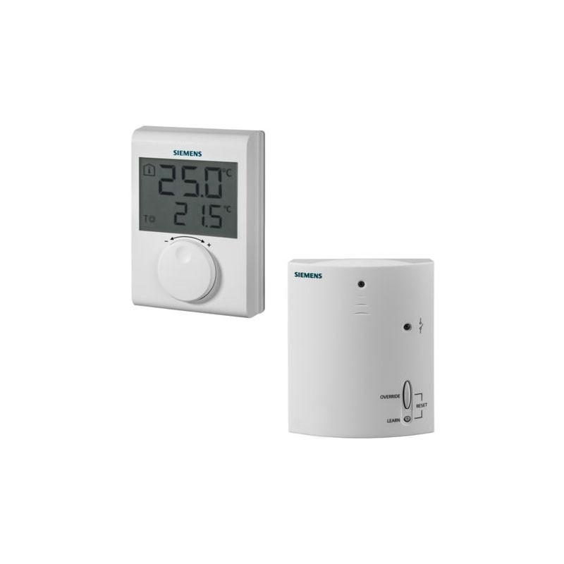 Poza Termostat wireless neprogramabil Siemens RDH100RF Set, digital. Poza 10984