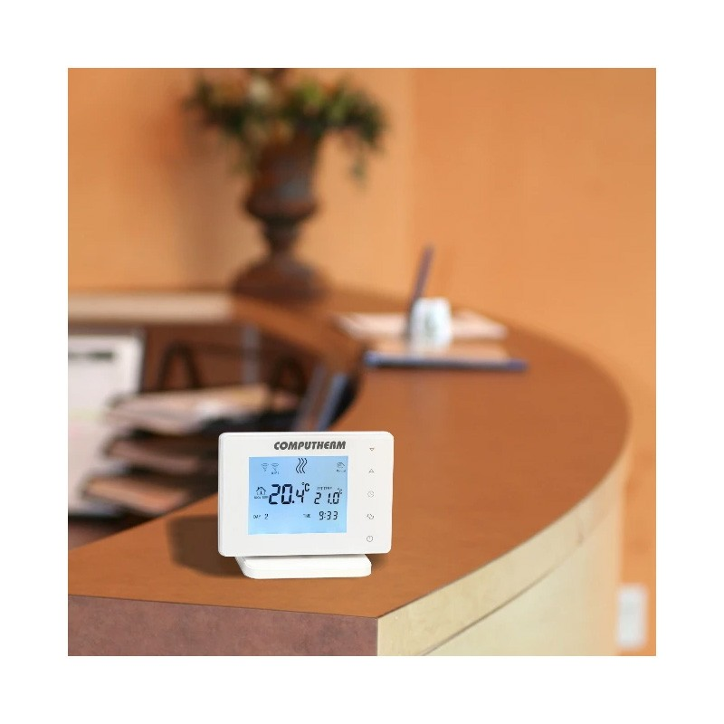 Poza Termostat ambient Computherm E400RF, fara fir, wifi control. Poza 13468