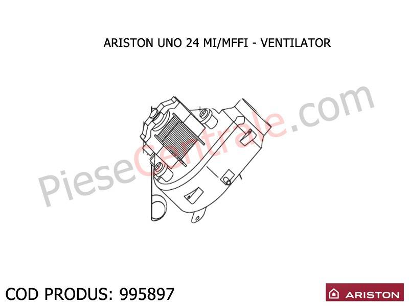 Poza Ventilator centrala termica Ariston UNO 24 mi/mffi