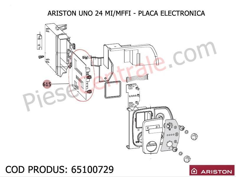 Poza Placa electronica centrale termice Ariston UNO 24 mi/mffi