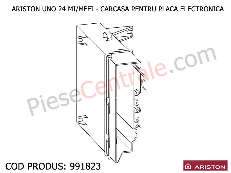 Poza Carcasa pentru placa electronica centrale termice Ariston UNO 24 mi/mffi