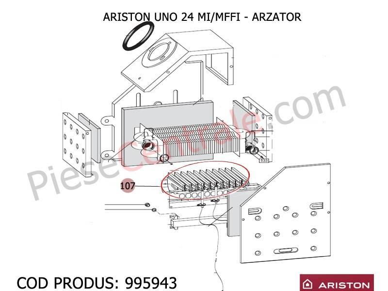 Poza Arzator centrale termice Ariston UNO 24 mi/mffi