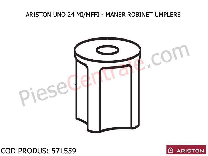 Poza Maner robinet umplere centrala termica Ariston UNO 24 mi/mffi