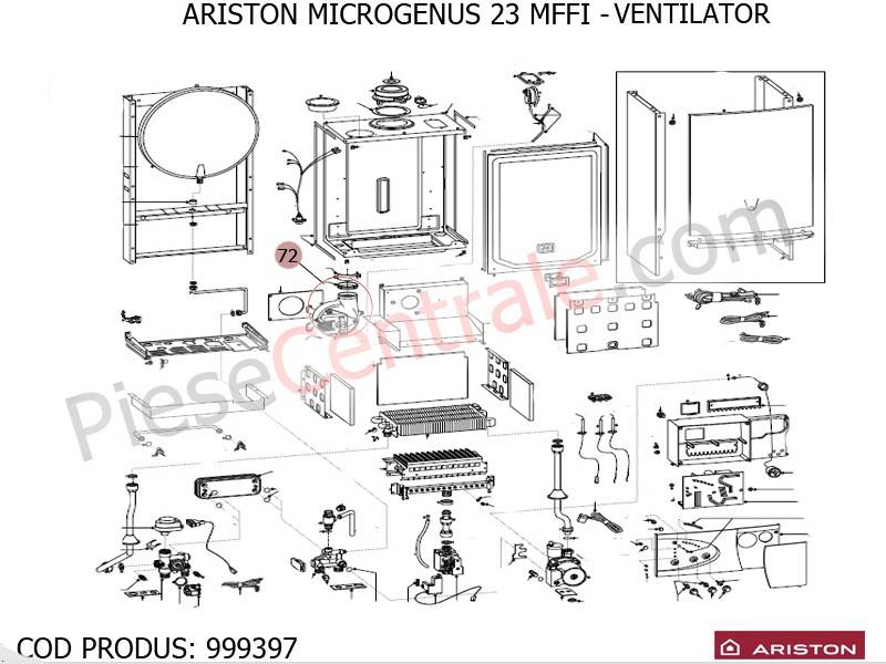 Poza Ventilator centrale termice Ariston MICROTEC SI MICROGENUS