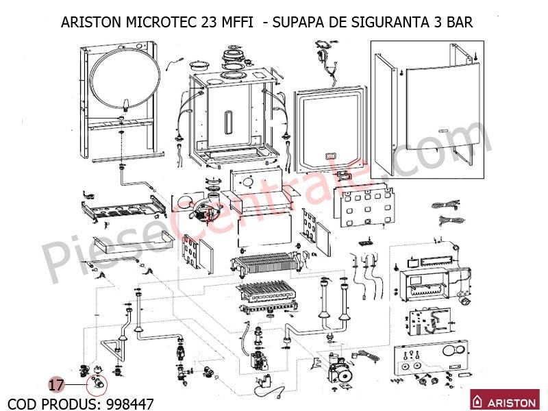 Poza Supapa siguranta 3 bari centrala termica Ariston MICROTEC 23 MFFI