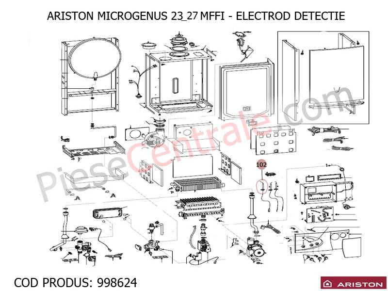 Poza Electrod detectie centrale termice Ariston MICROTEC SI MICROGENUS
