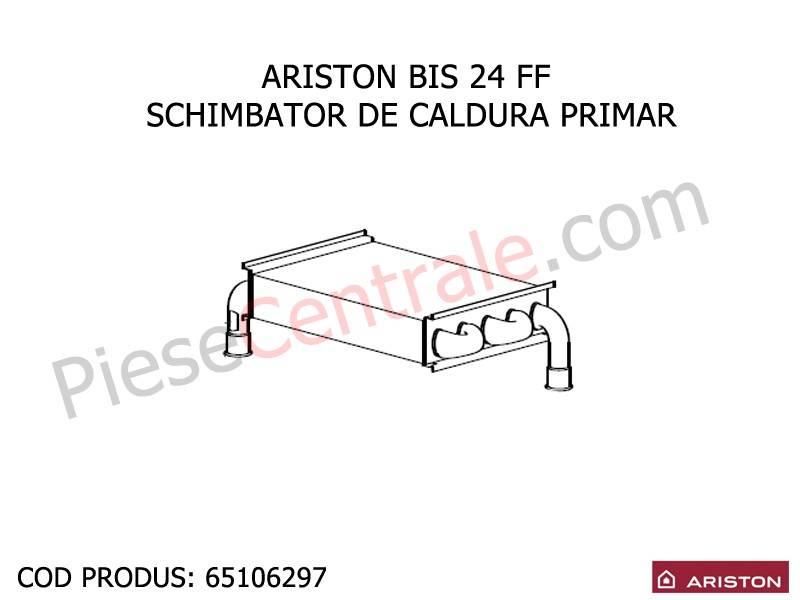 Poza Schimbator caldura primar centrala termica Ariston BIS, BIS 2, Clas, Genus