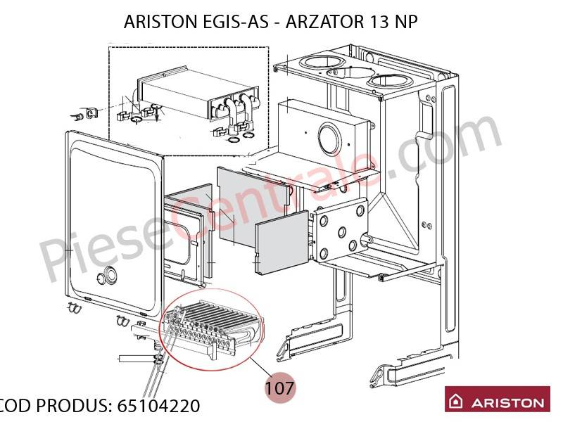 Poza Arzator 13 NP centrala termica Ariston EGIS, AS, Clas, Genus
