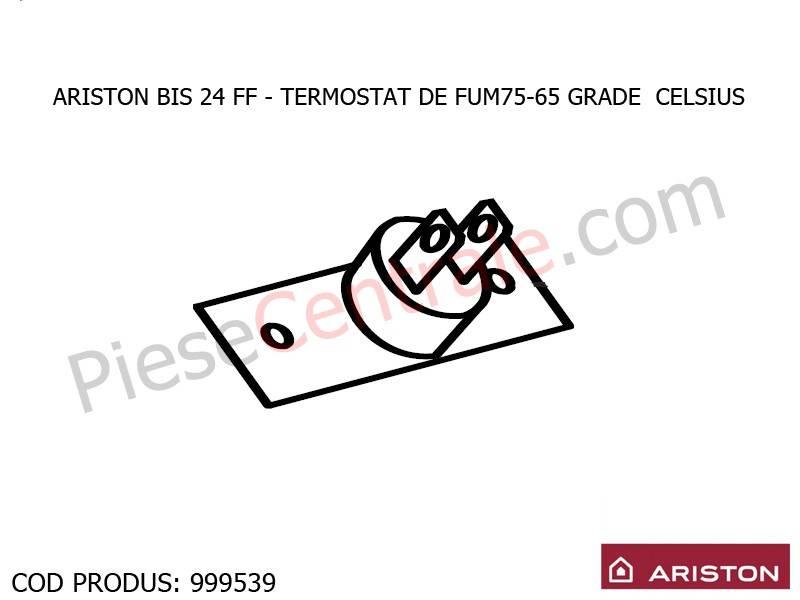Poza Termostat de fum 75-65 grade Celsius centrala termica Ariston BIS 24 FF