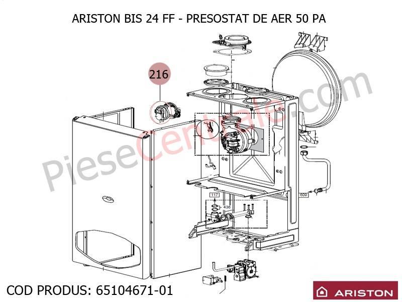 Poza Presostat aer centrala termica Ariston BIS 24 FF, EGIS, AS, Genus, Clas