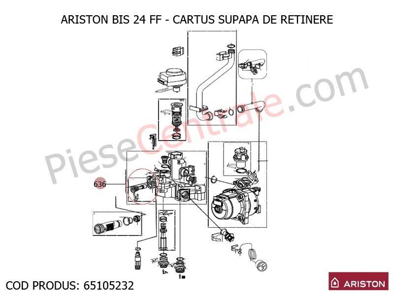 Poza Cartus supapa de retinere centrala termica Ariston BIS 24 FF