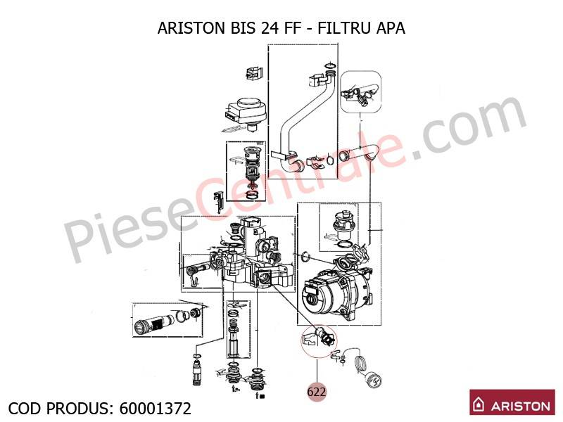Poza Filtru apa centrale termice Ariston BIS 24 FF, EGIS, AS