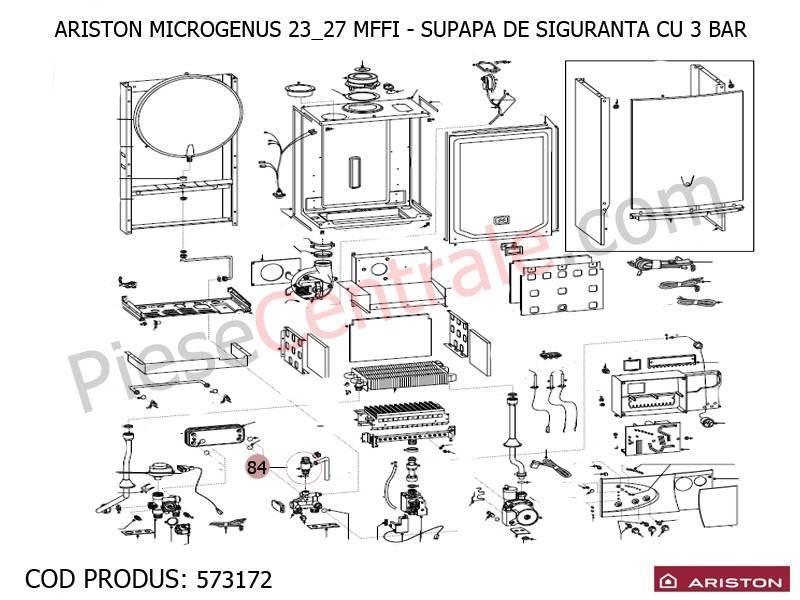 Poza Supapa siguranta 3 bari centrale termice Ariston MICROGENUS MFFI