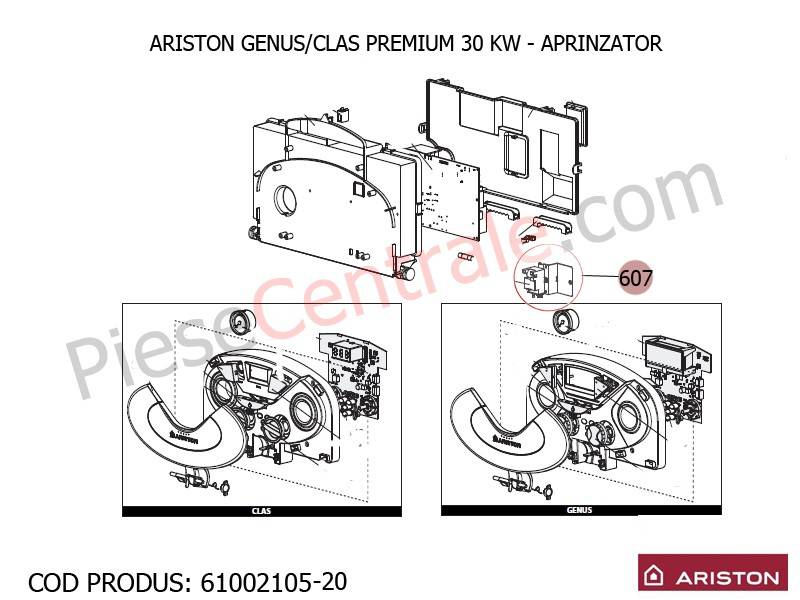 Poza Aprinzator centrale termice Ariston Clas/Genus Premium
