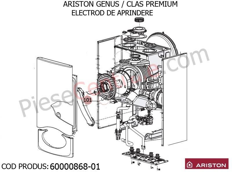 Poza Electrod de aprindere centrale termice Ariston Genus/Clas Premium