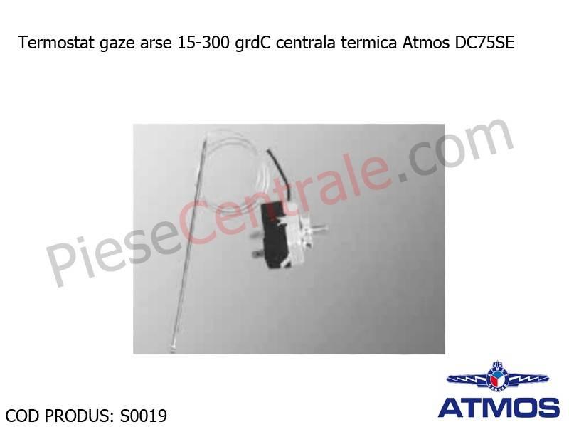 Poza Termostat gaze arse 15-300 grdC centrala termica Atmos DC75SE