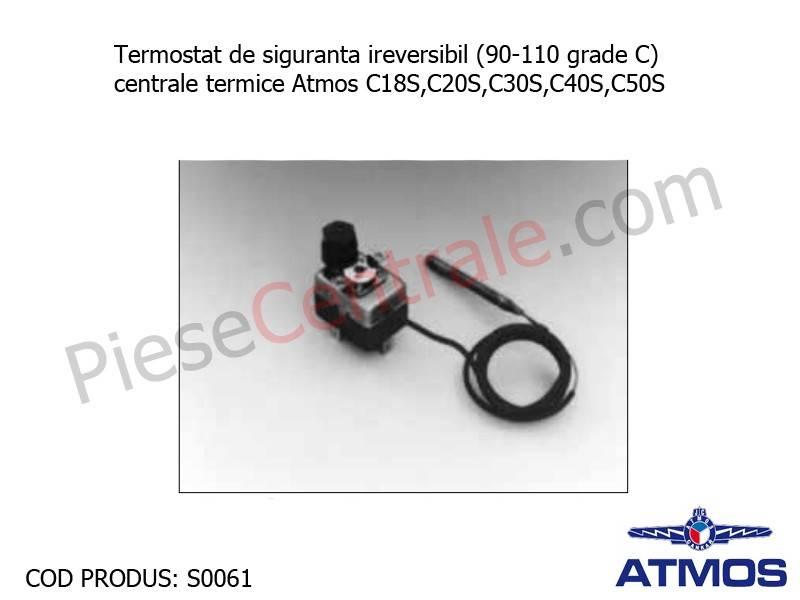 Poza Termostat de siguranta ireversibil (90-110 grade C) centrale termice Atmos C18S, C20S, C30S, C40S, C50S