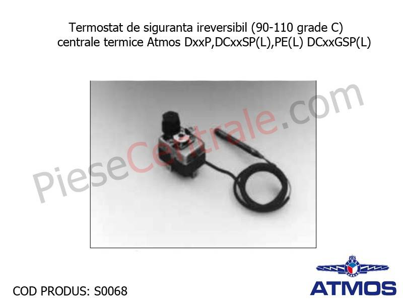 Poza Termostat de siguranta ireversibil (90-110 grade C) centrala termica Atmos DxxP, DCxxSP(L), PE(L), DCxxGSP(L)