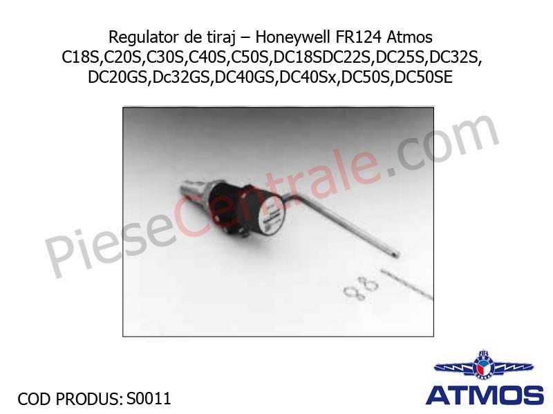 Poza Regulator de tiraj Honeywell FR124 Atmos CxxS, DCxxS, DCxxGS, DC40Sx, DC50S, DC50SE