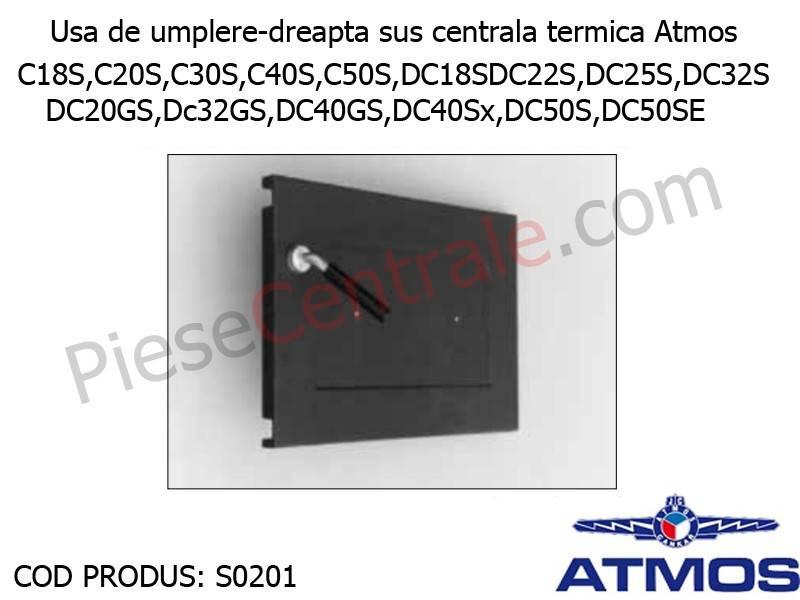 Poza Usa de umplere-dreapta sus centrala termica Atmos CxxS, DxxS, DCxxGS, DC40Sx, DC50S, DC50SE