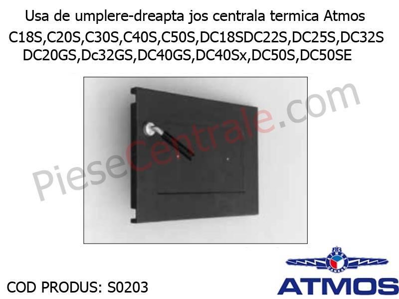 Poza Usa de umplere-dreapta jos centrala termica Atmos CxxS, DxxS, DCxxGS, DC40Sx, DC50S, DC50SE