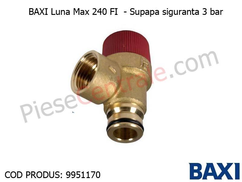 Poza Supapa siguranta 3 bar Baxi Luna Max 240 FI, Eco, Eco3 Compact