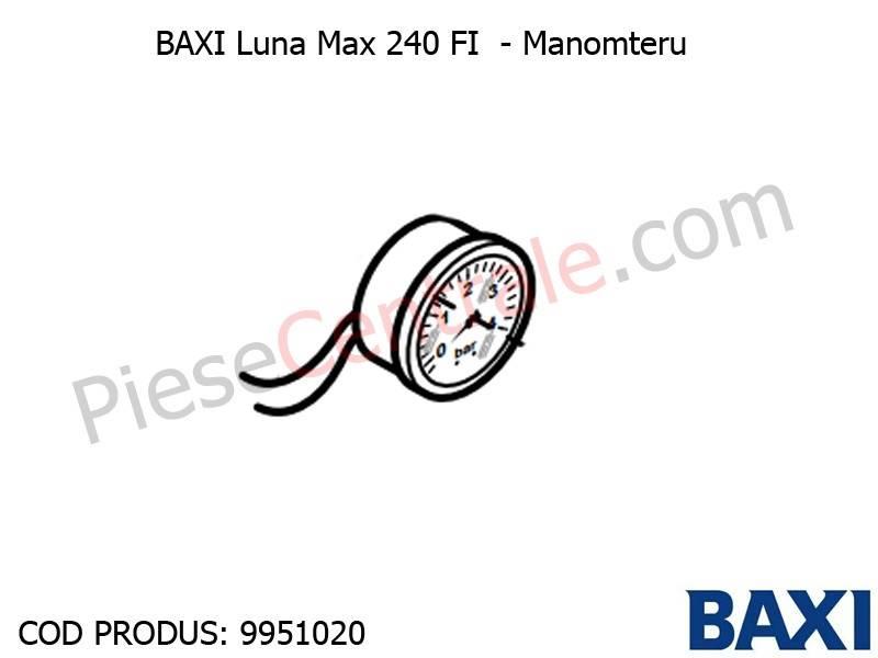 Poza Manometru Baxi Luna Max 240 FI
