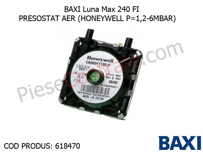 Poza Presostat aer (HONEYWELL P=1,2-6MBAR) Baxi Luna Max 240 FI, Eco