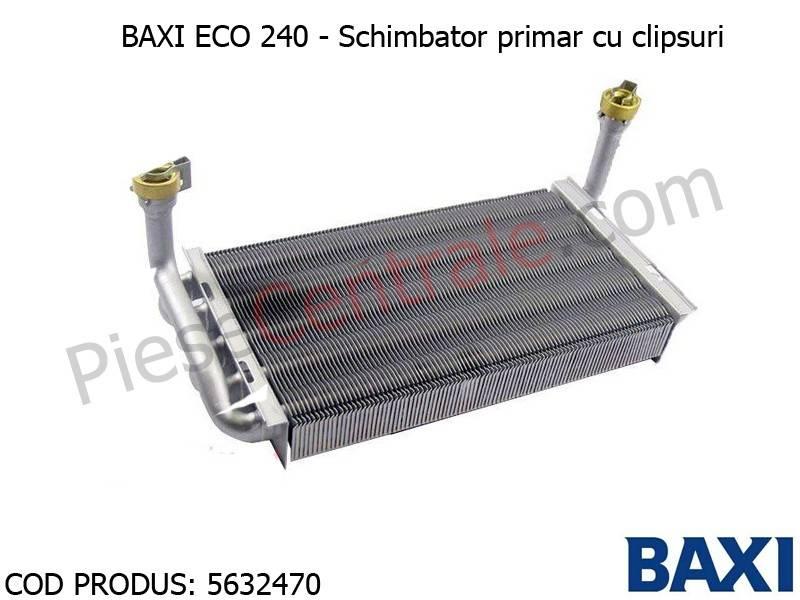 Poza Schimbator primar cu clipsuri centrala termica Baxi Eco 240