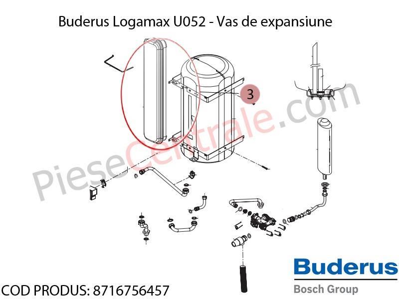 Poza Vas de expansiune centrala termica Buderus Logamax U052