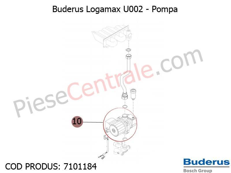 Poza Pompa centrala termica Buderus Logamax U002