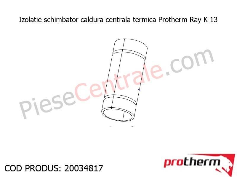 Poza Izolatie schimbator caldura centrala termica Protherm Ray K 13