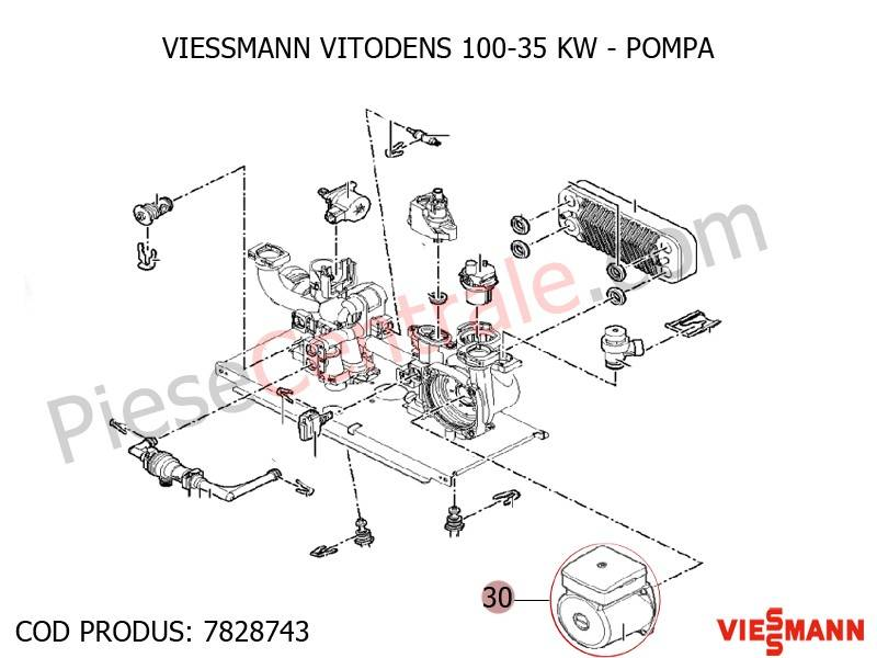 Poza Pompa centrala termica Viessmann Vitodens 100 35 WB1B