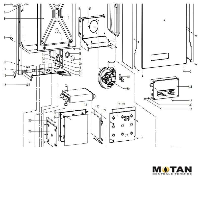 Poza Schimbator principal pentru centrale termice Motan Sigma 24 Epr. Poza 8214
