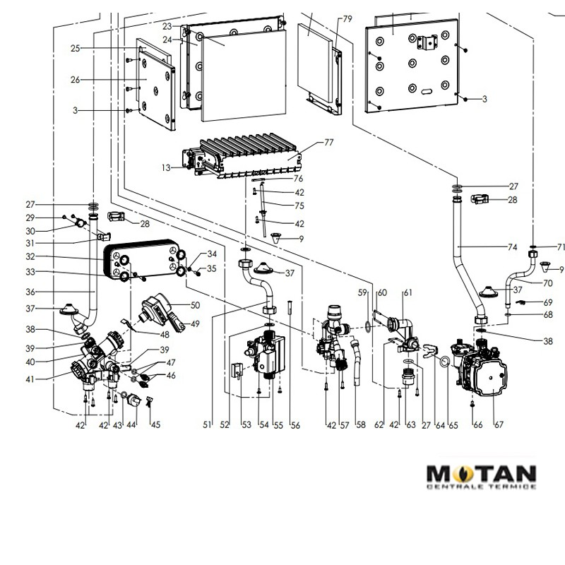Poza Servomotor vana 3 cai pentru centrale termice Motan Sigma 24 Epr/Motan Sigma 31 Epr. Poza 8250