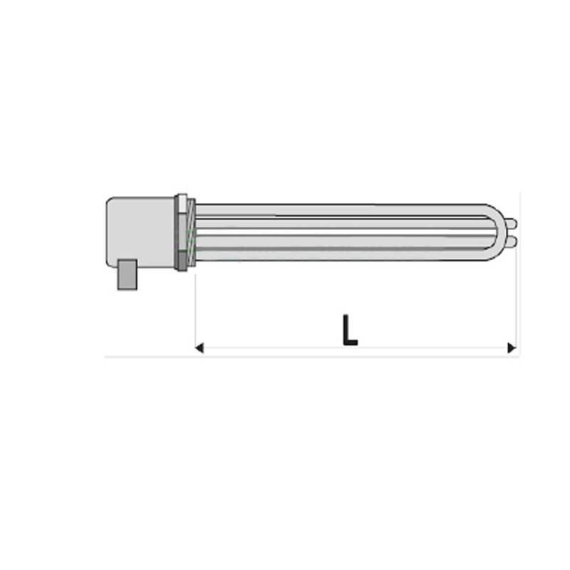 Poza Rezistenta electrica cu termostat pentru boiler indirect Woody - 7.5 kw