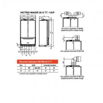 Poza Dimensiuni centrala termica in condensare Immergas Victrix MAIOR 35 TT X 1 Erp 35 kW