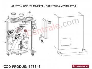 Poza Garnitura ventilator centrala termica Ariston UNO 24 mi/mffi