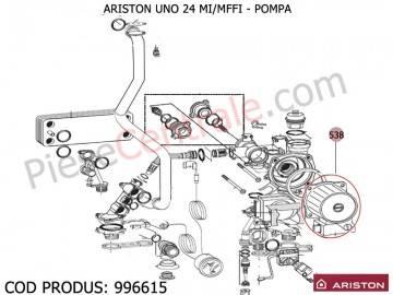 Poza Pompa centrala termica Ariston UNO 24 mi/mffi