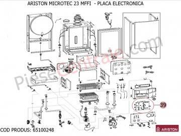 Poza Placa electronica centrala termica Ariston MICROTEC 23 MFFI