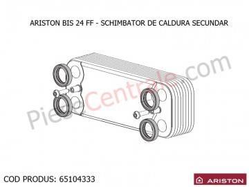 Poza Schimbator de caldura secundar in placi ACM centrala termica Ariston BIS 24 FF, Clas/Genus Premium
