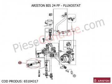 Poza Fluxostat centrale termice Ariston BIS 24 FF, EGIS, AS, Clas/Genus Premium