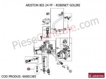 Poza Robinet golire centrale termice Ariston BIS 24 FF, AS, EGIS