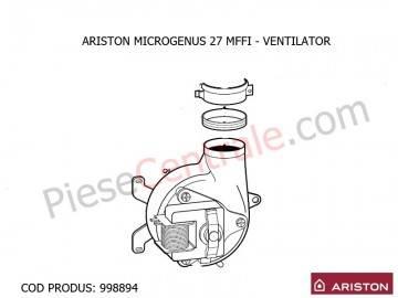 Poza Ventilator centrala termica Ariston MICROGENUS 27 MFFI