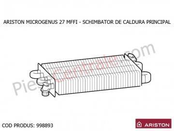 Poza Schimbator de caldura centrala termica Ariston MICROGENUS 27 MFFI