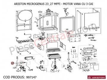 Poza Motor pentru vana cu 3 cai centrala termica Ariston MICROGENUS MFFI