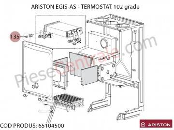 Poza Termostat 102 grade centrala termica Ariston EGIS si AS