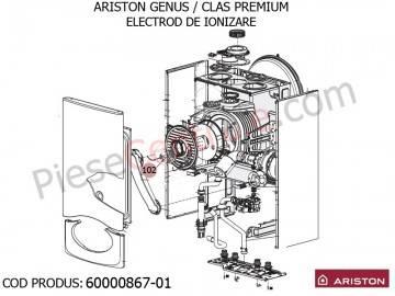 Poza Electrod de ionizare centrale termice Ariston Genus/Clas Premium