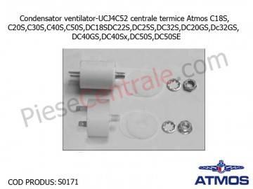 Poza Condensator ventilator-UCJ4C52 centrale termice Atmos C18S, C20S,C30S,C40S,C50S,DC18S,DC22S,DC25S,DC32S,DC20GS,Dc32GS, DC40GS,DC40Sx,DC50S,DC50SE