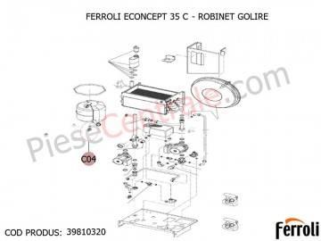 Poza Robinet golire centrala termica Ferroli Econcept